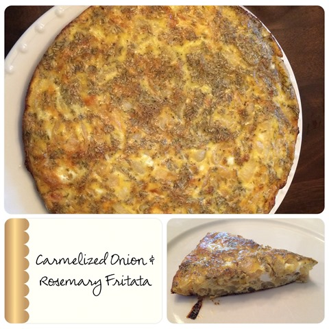 Caramelized Onion and Rosemary Fritata